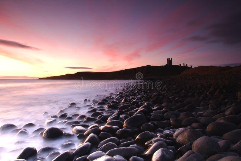Het Overzeese van Engeland Silhouet van de Kust   royalty-vrije stock fotografie