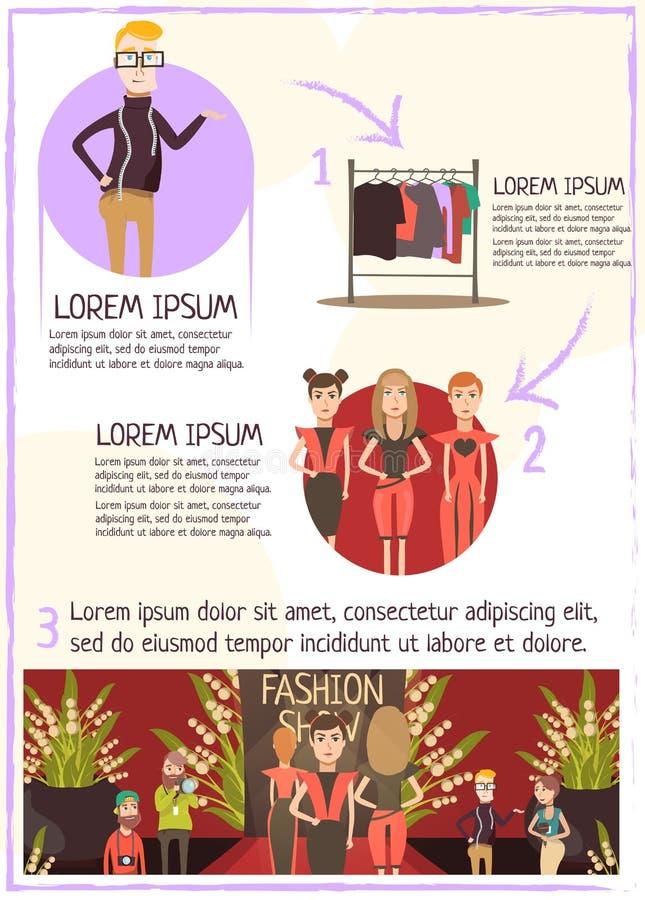 Het Overzicht Infographics van de maniergebeurtenis stock illustratie
