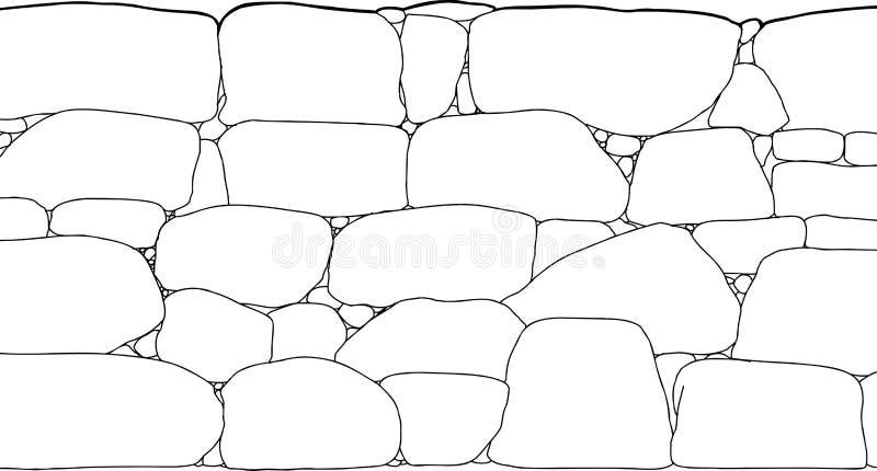 Het Overzicht van de rotsmuur royalty-vrije illustratie