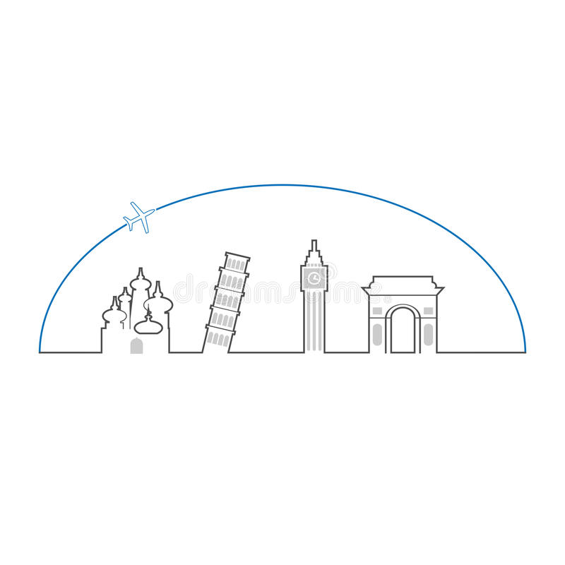 Het overzicht van reiseuropa vector illustratie