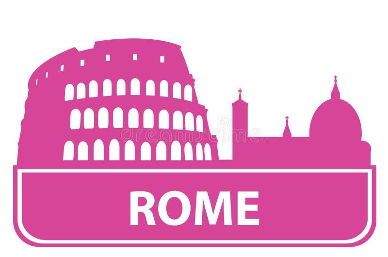 Het overzicht van Rome stock illustratie