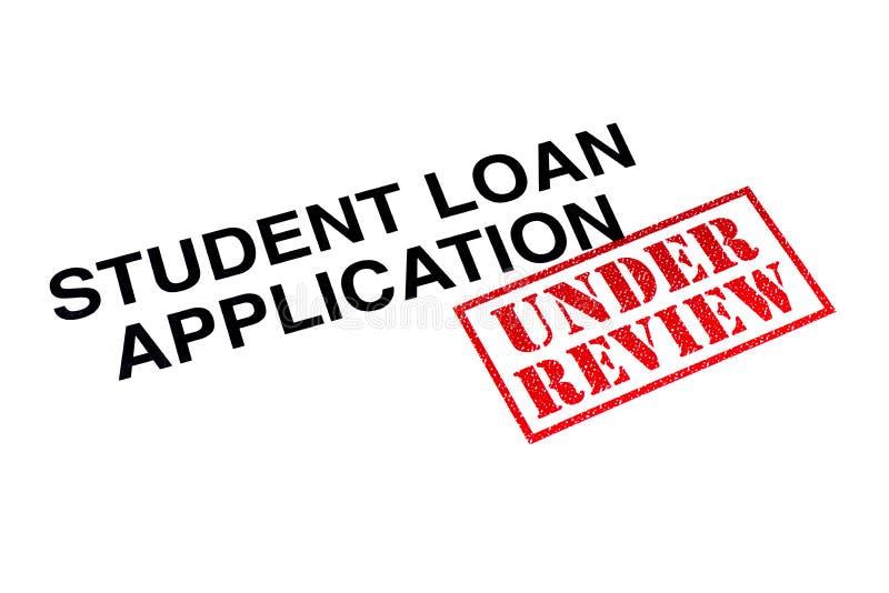 Het Overzicht van studentenloan application under royalty-vrije stock foto