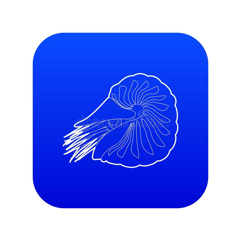 Het overzicht van het tweekleppig schelpdierpictogram royalty-vrije illustratie
