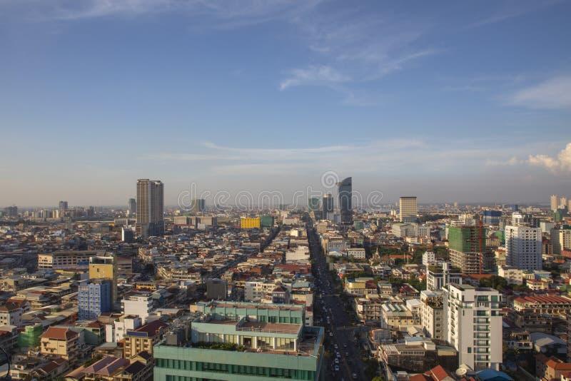 Het Overzichtsdag van Phnompenh stock afbeeldingen