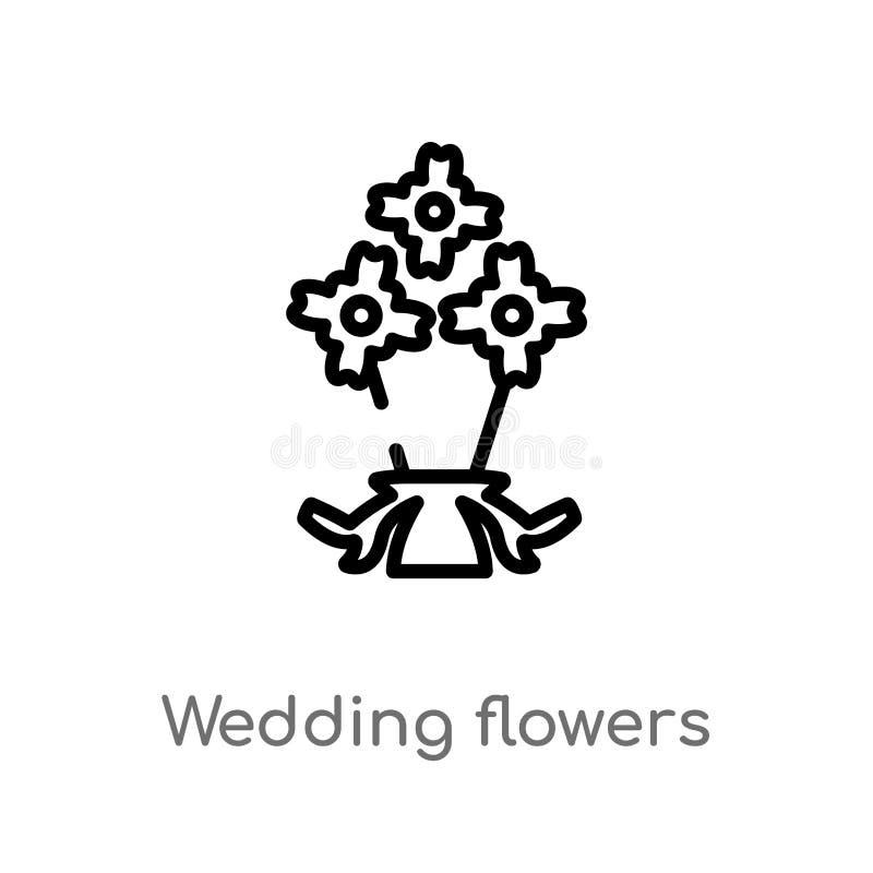 het overzichtshuwelijk bloeit vectorpictogram r royalty-vrije illustratie