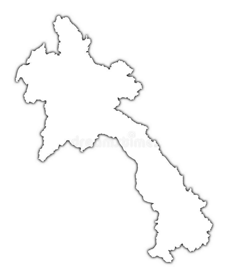 Het overzichtskaart van Laos royalty-vrije illustratie