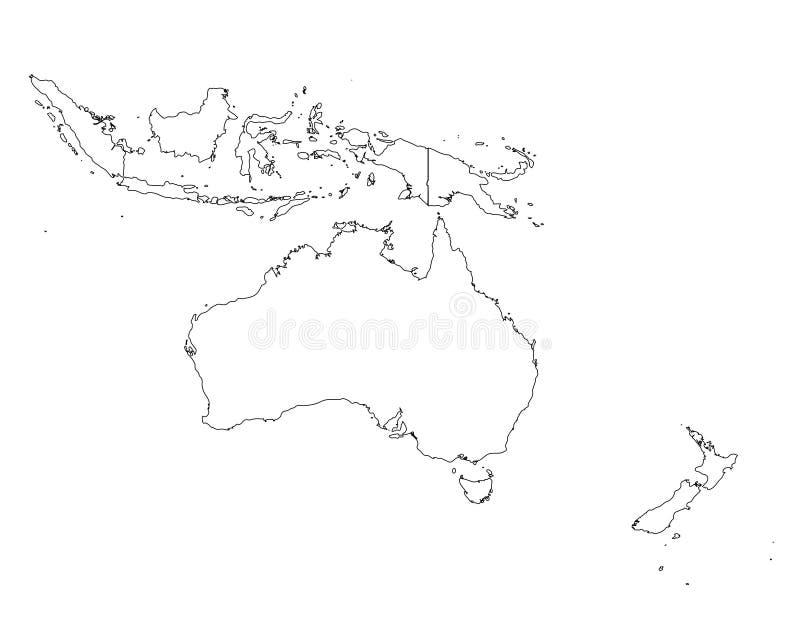 Het overzichtskaart van Oceanië