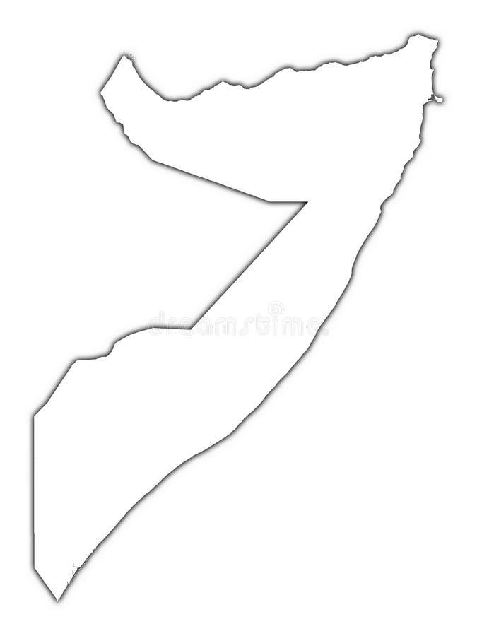 Het overzichtskaart van Somalië vector illustratie