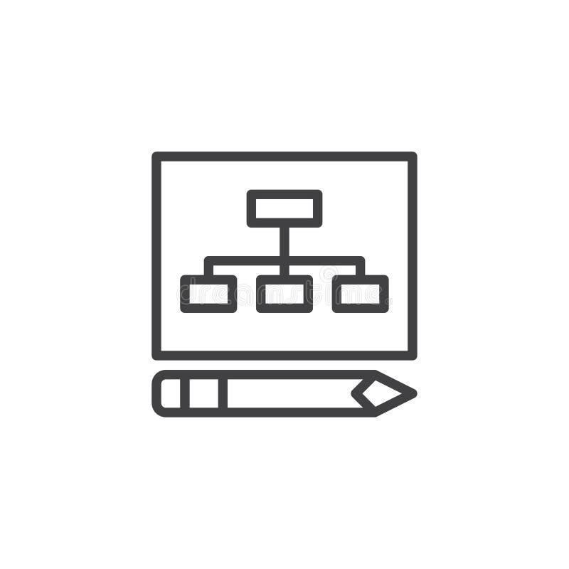 Het overzichtspictogram van het businessplan royalty-vrije illustratie