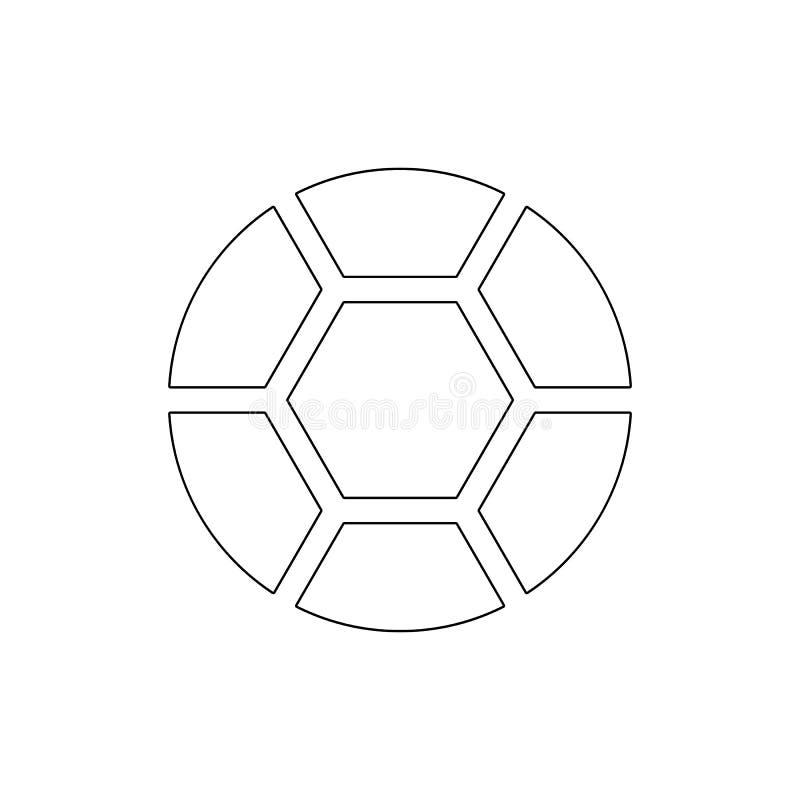 Het overzichtspictogram van de balvoetbal De tekens en de symbolen kunnen voor Web, embleem, mobiele toepassing, UI, UX worden ge vector illustratie