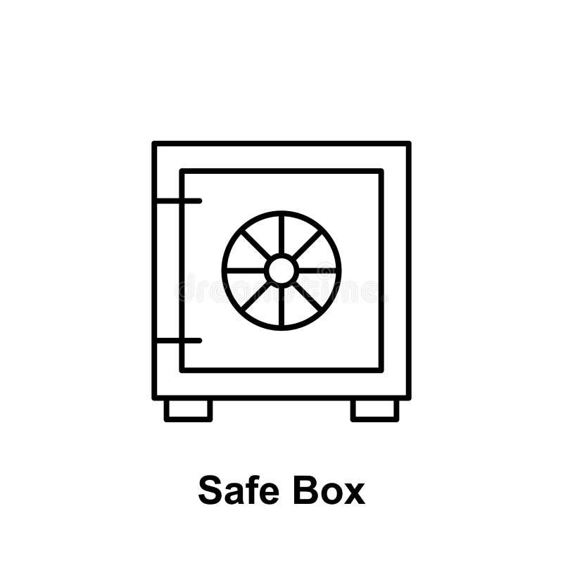 Het overzichtspictogram van de Bitcoin veilig doos Element van de pictogrammen van de bitcoinillustratie De tekens en de symbolen stock illustratie