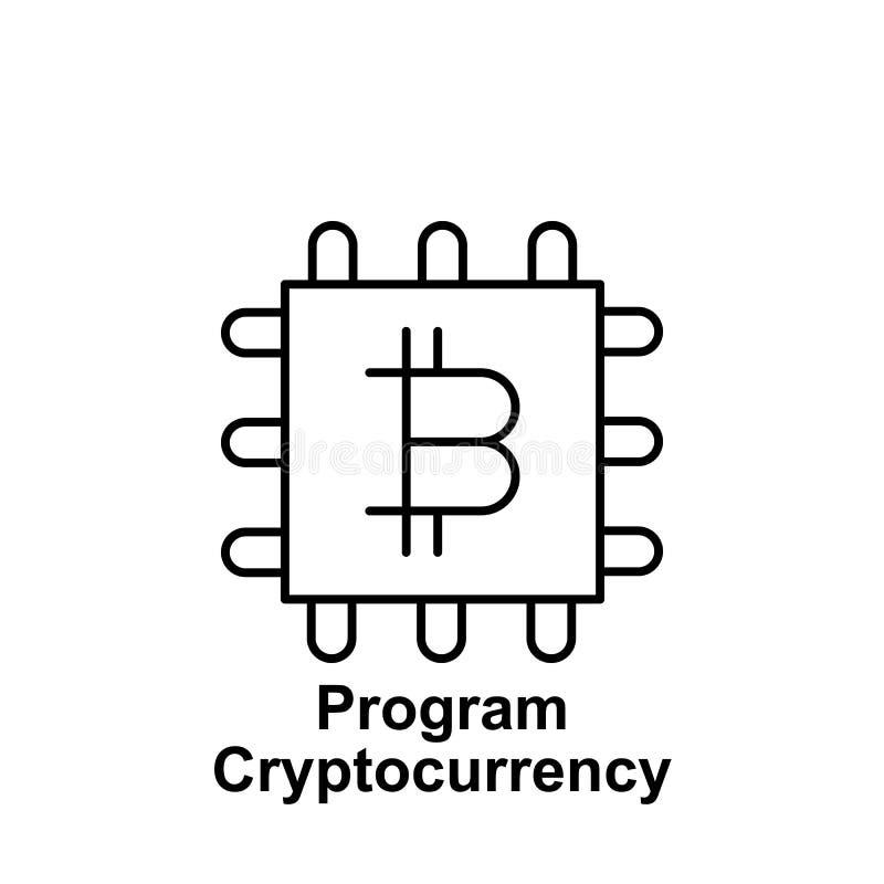 Het overzichtspictogram van de Bitcoinbewerker Element van de pictogrammen van de bitcoinillustratie De tekens en de symbolen kun vector illustratie