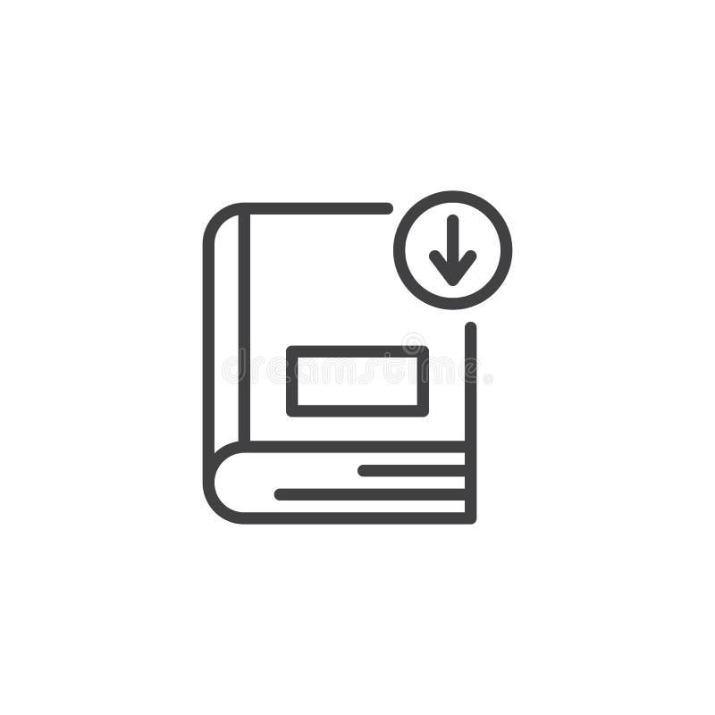 Het overzichtspictogram van de boekdownload vector illustratie