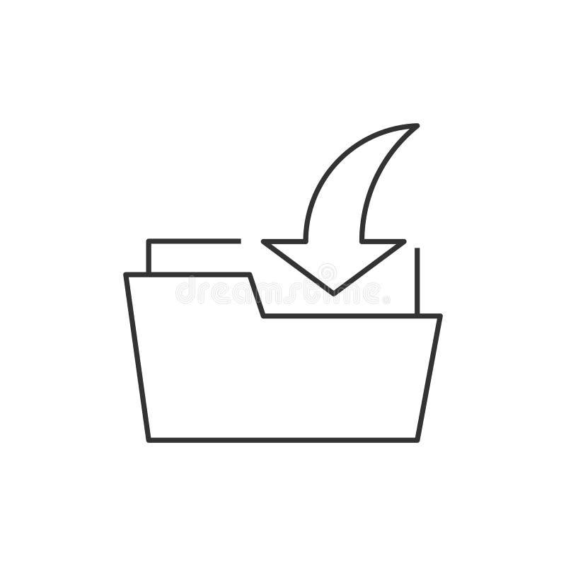 Het overzichtspictogram van de downloadomslag royalty-vrije illustratie
