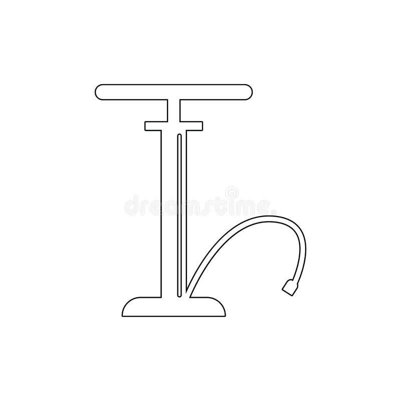 het overzichtspictogram van de handpomp Elementen van de illustratiepictogram van de autoreparatie De tekens en de symbolen kunne vector illustratie