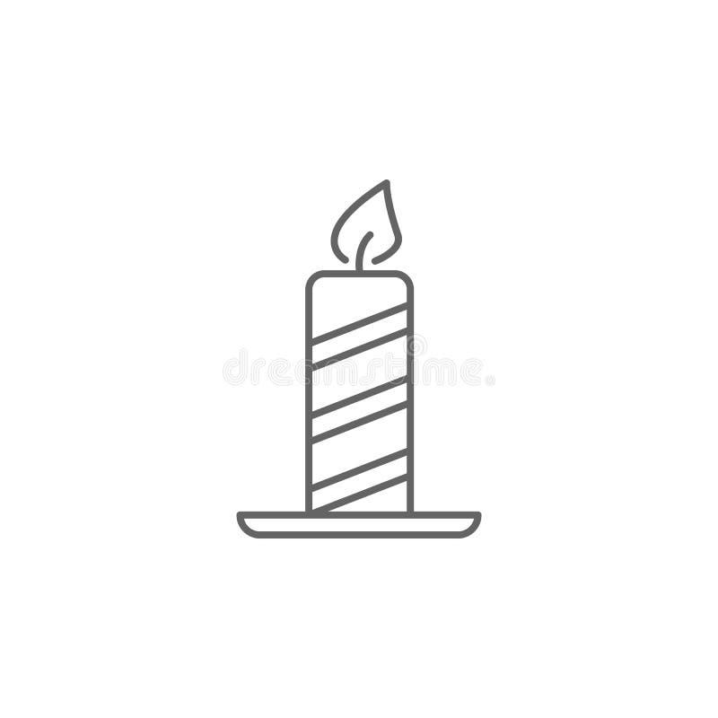 Het overzichtspictogram van de kaarsenv.s. De tekens en de symbolen kunnen voor Web, embleem, mobiele toepassing, UI, UX worden g vector illustratie