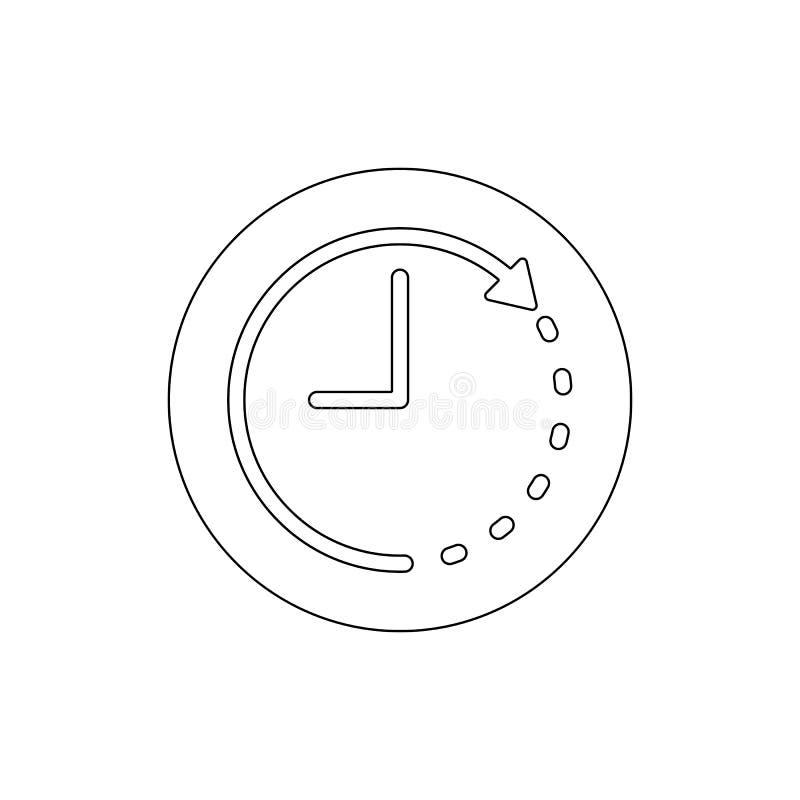 Het overzichtspictogram van de klokpijl De tekens en de symbolen kunnen voor Web, embleem, mobiele toepassing, UI, UX worden gebr royalty-vrije illustratie