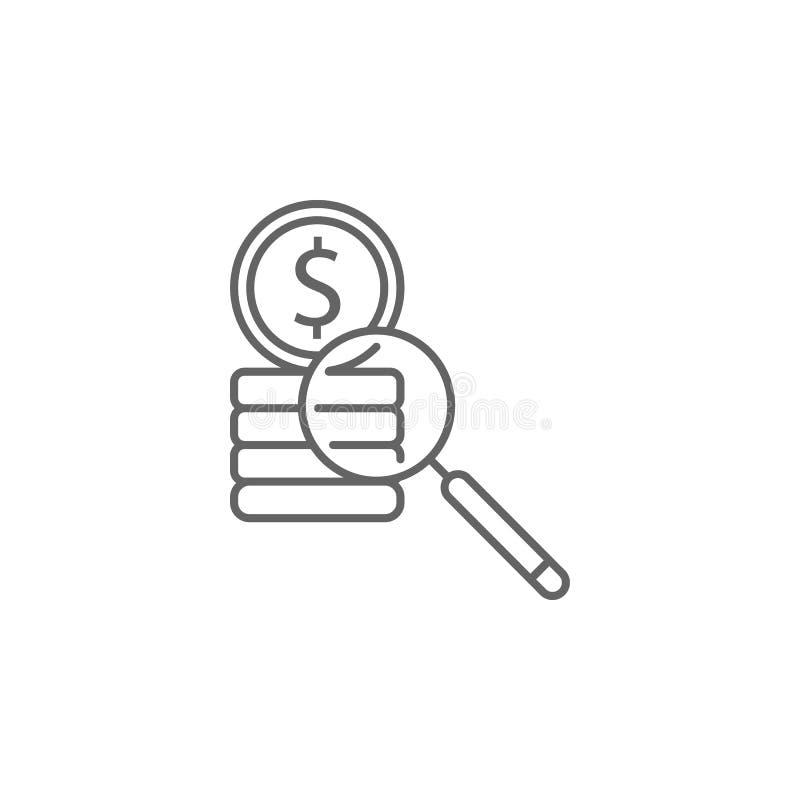 Het overzichtspictogram van de rechtvaardigheidscorruptie Elementen van de lijnpictogram van de Wetsillustratie De tekens, de sym stock illustratie