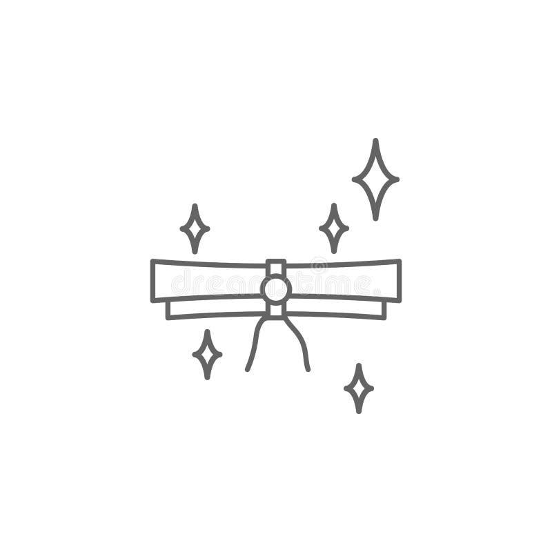 Het overzichtspictogram van de rechtvaardigheidsrol Elementen van de lijnpictogram van de Wetsillustratie De tekens, de symbolen  royalty-vrije illustratie