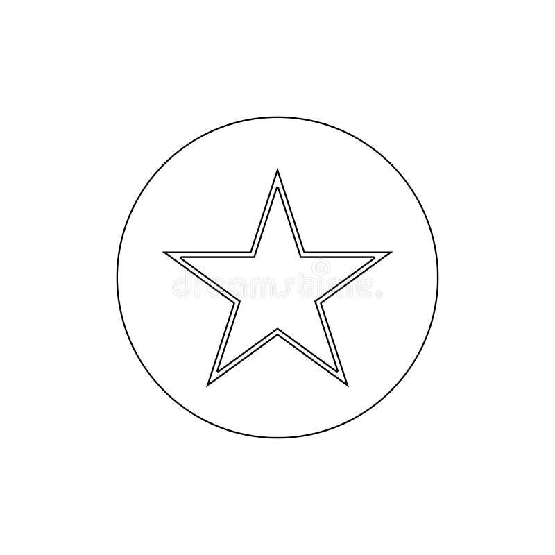 Het overzichtspictogram van de referentie favoriet ster De tekens en de symbolen kunnen voor Web, embleem, mobiele toepassing, UI royalty-vrije illustratie