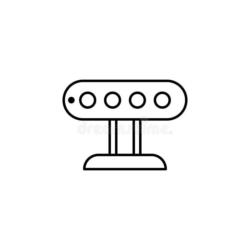 Het overzichtspictogram van de roboticasensor De tekens en de symbolen kunnen voor Web, embleem, mobiele toepassing, UI, UX worde stock illustratie