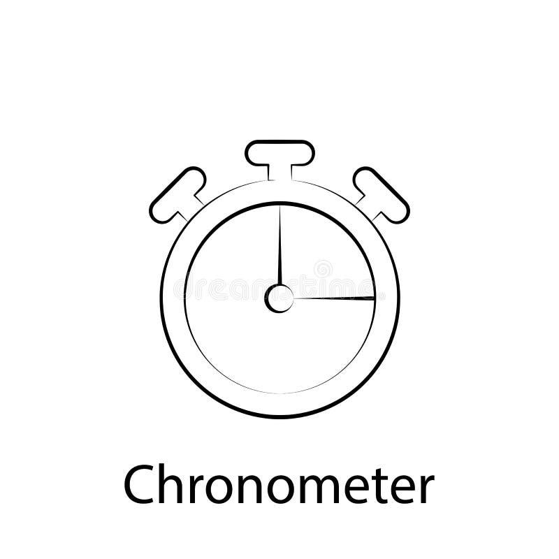 Het overzichtspictogram van de snel voedselchronometer r De tekens en de symbolen kunnen voor Web, embleem, mobiele toepassing, U vector illustratie