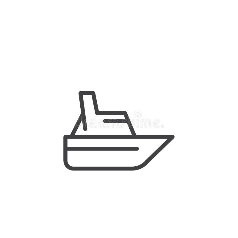 Het overzichtspictogram van de snelheidsboot royalty-vrije illustratie