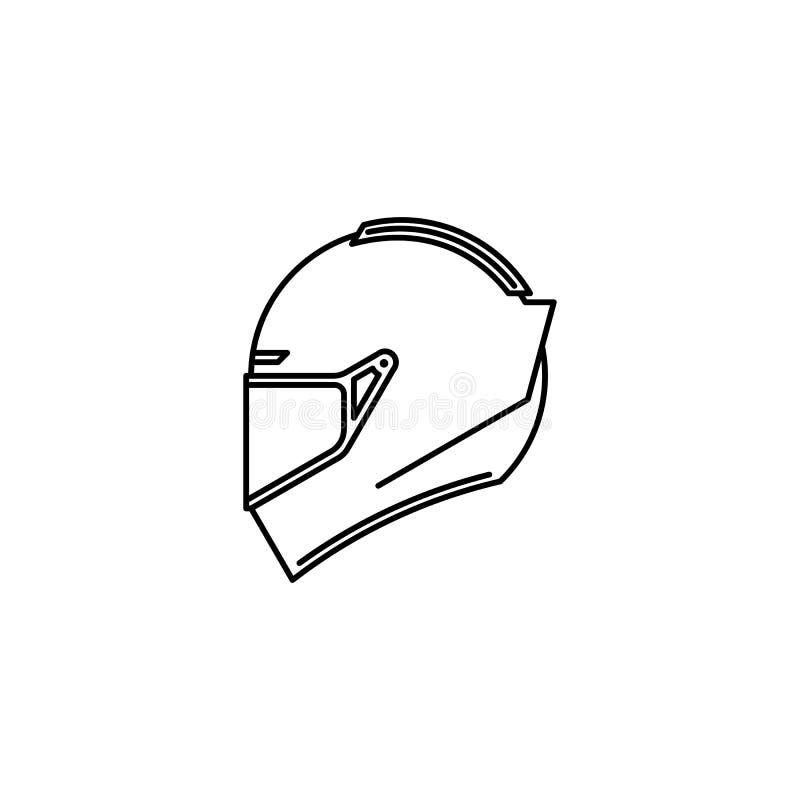 Het overzichtspictogram van de sporthelm vector illustratie