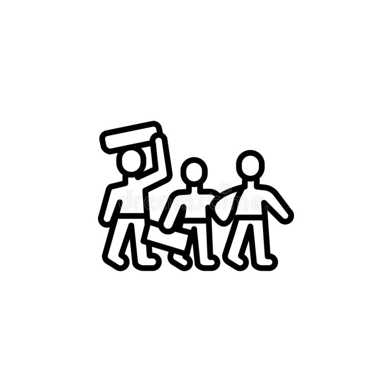 het overzichtspictogram van de vluchtelingsmigratie element van het pictogram van de migratieillustratie de tekens, symbolen kunn stock illustratie