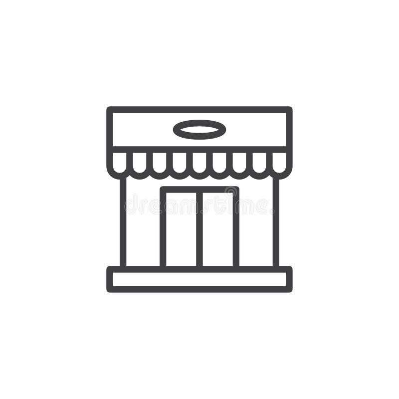 Het overzichtspictogram van de winkelopslag vector illustratie