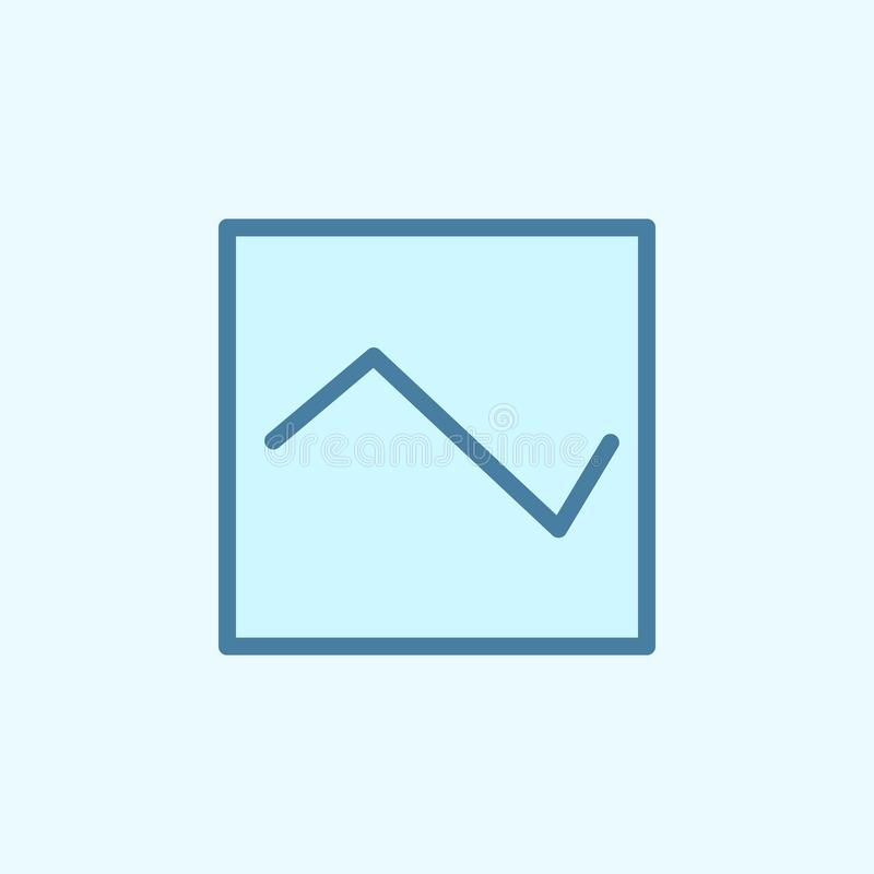 het overzichtspictogram van het diagramgebied Het element van 2 kleurt eenvoudig pictogram Dun lijnpictogram voor websiteontwerp  royalty-vrije illustratie
