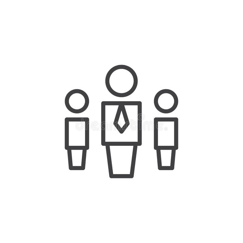 Het overzichtspictogram van het hiërarchiesysteem stock illustratie