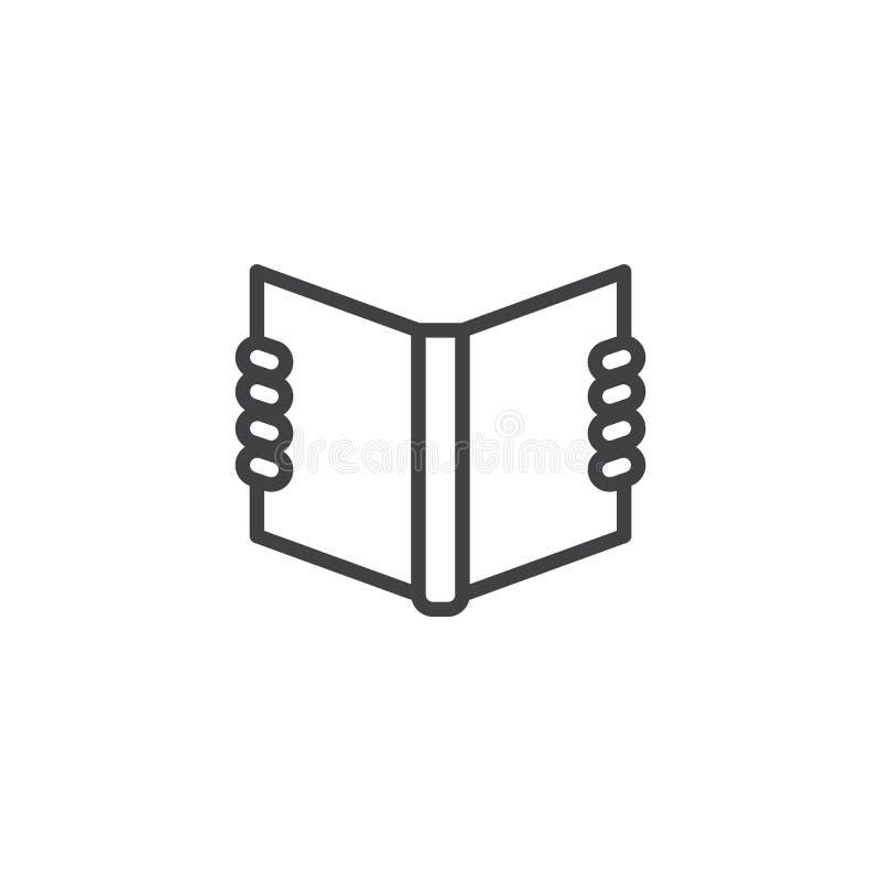 Het overzichtspictogram van het lezingshandboek vector illustratie