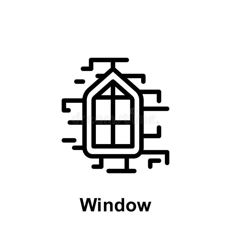Het overzichtspictogram van het Ramadanvenster Element van de illustratiepictogram van de Ramadandag De tekens en de symbolen kun vector illustratie