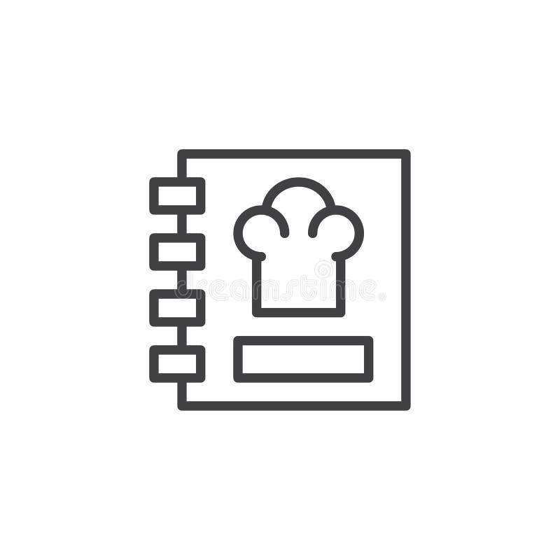 Het overzichtspictogram van het receptenboek vector illustratie