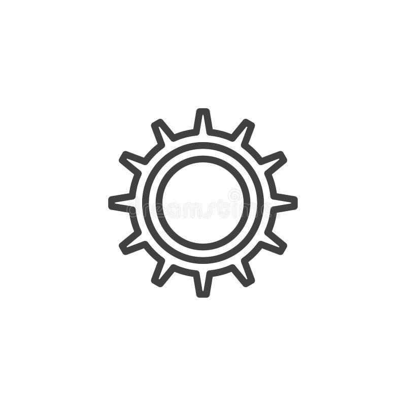 Het overzichtspictogram van toestelwielen vector illustratie