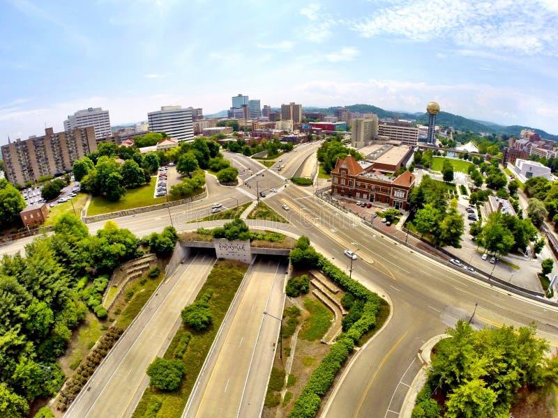 Het overzien van Knoxville stock fotografie