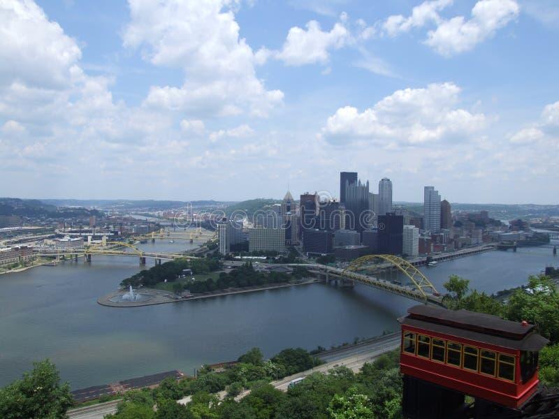 Het overzien van Pittsburg stock foto