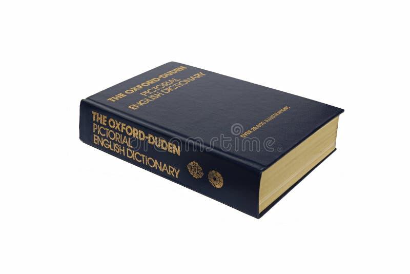 Het Oxford geïllustreerde geïsoleerde woordenboek stock foto's