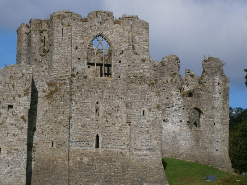 Het Oystermouthkasteel mompelt Wales stock afbeelding