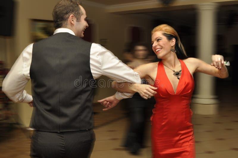 Het paar danst royalty-vrije stock foto's