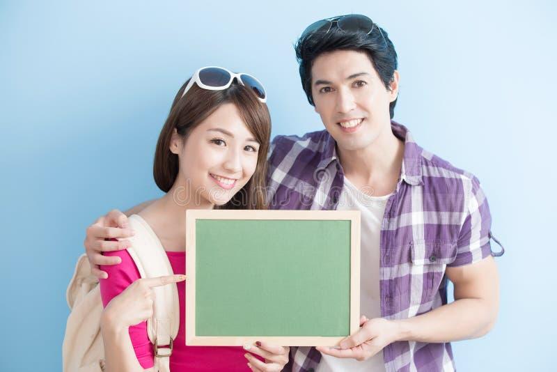 Het paar toont bord royalty-vrije stock afbeelding