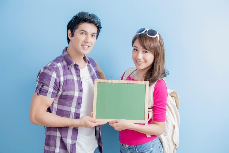 Het paar toont bord royalty-vrije stock foto