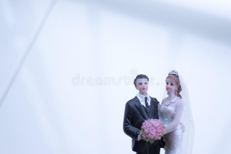 Het paar van het cake topper huwelijk royalty-vrije stock fotografie