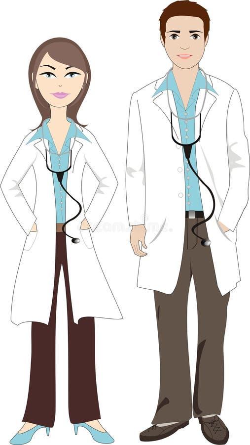 Het paar van de arts royalty-vrije illustratie