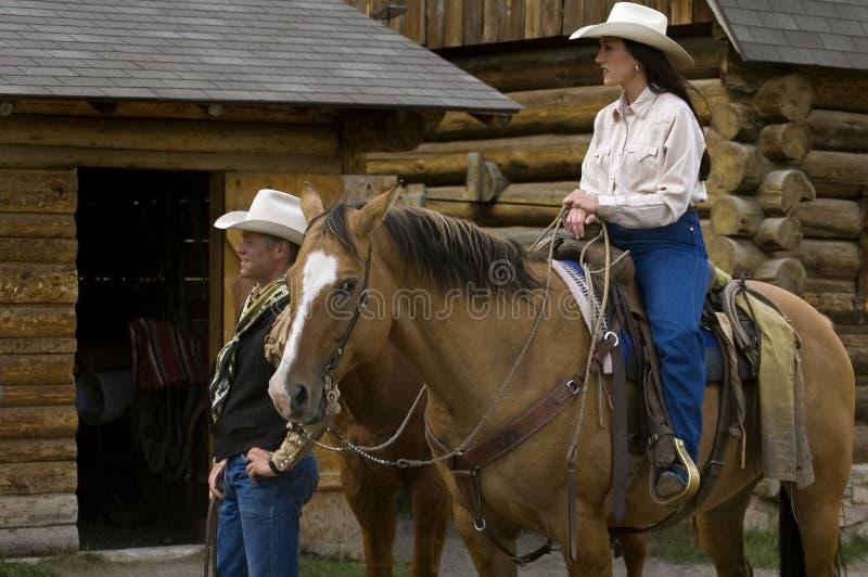 Het Paar van de cowboy stock foto