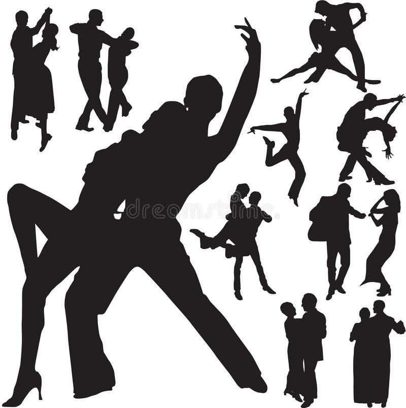 Het paar van de dans stock illustratie