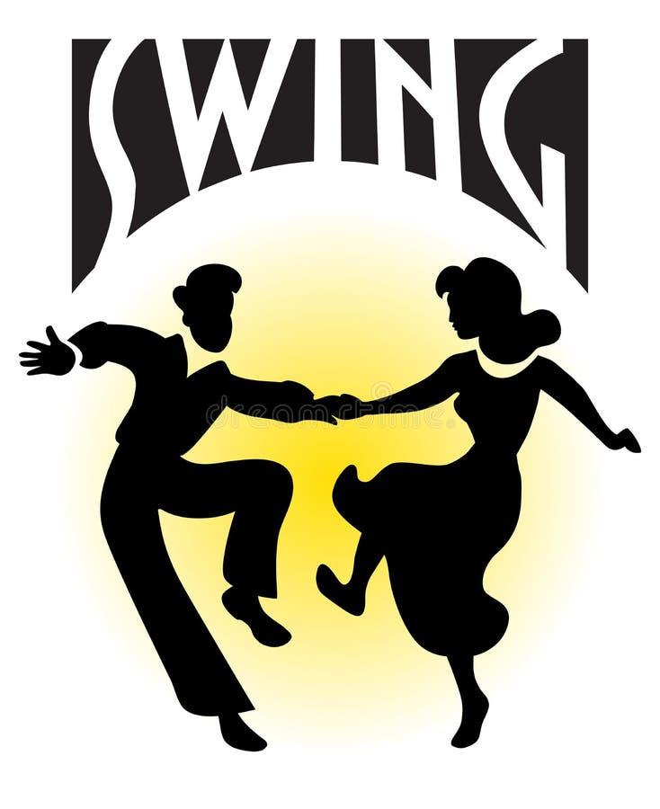 Het Paar van de Dans van de schommeling/eps royalty-vrije illustratie