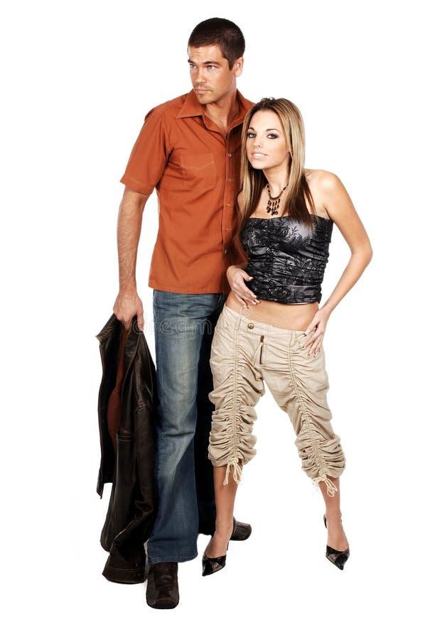 Het Paar van de glamour royalty-vrije stock foto