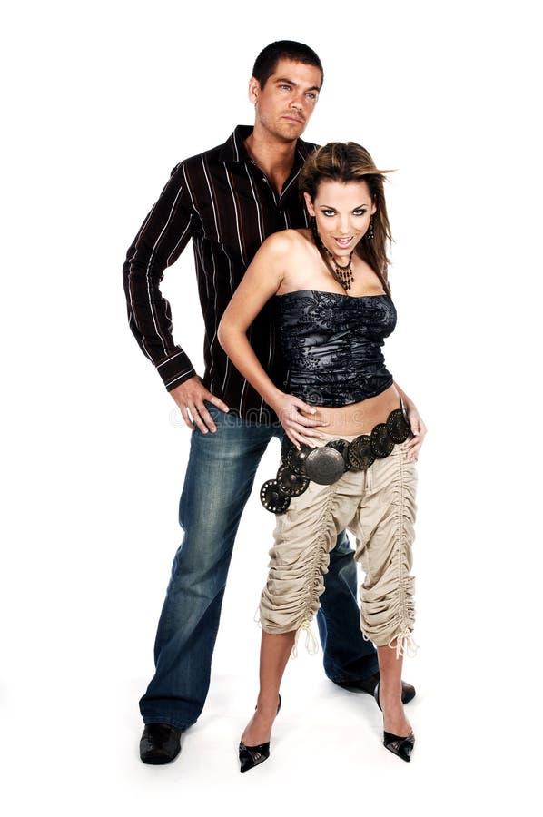 Het Paar van de glamour stock foto